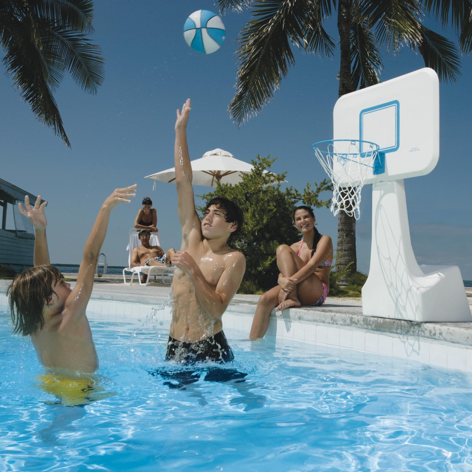 Justfun inflatables - Pool basketball ...